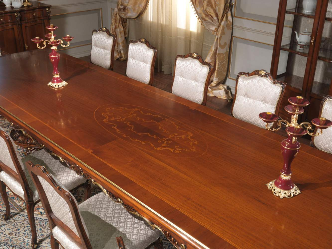 Louis XV style table with inlay
