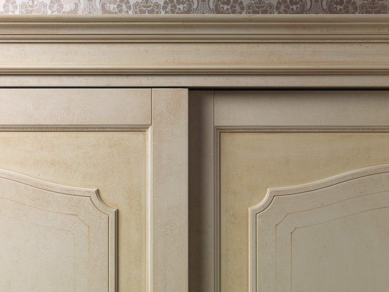 Classic wardrobe Botticelli, detail of the doors