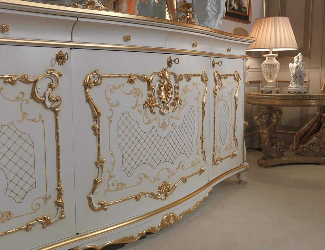 Carved sideboard Venice in Louis XV style