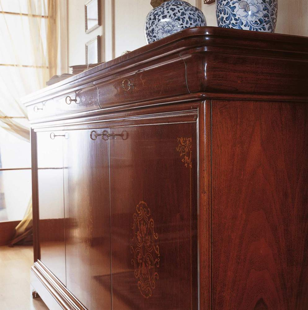 Inlaid sideboard in 19th century french style