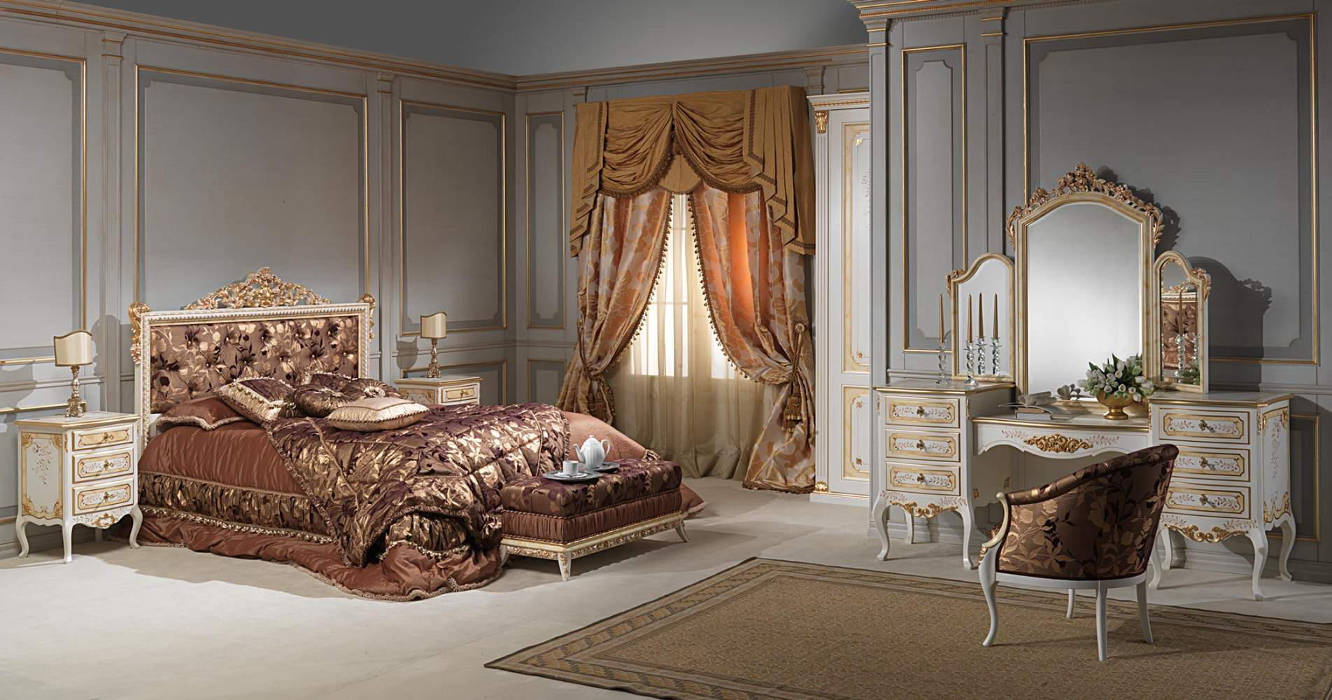Classic bedroom Louvre, complete furniture