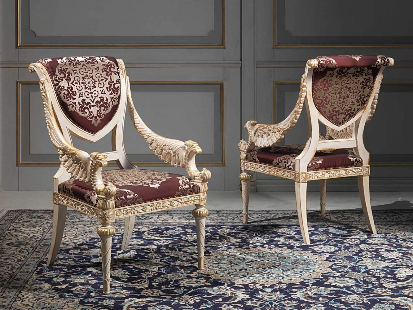 Chairs louis xvi style vimercati classic furniture - Telas para tapizar sofas ...