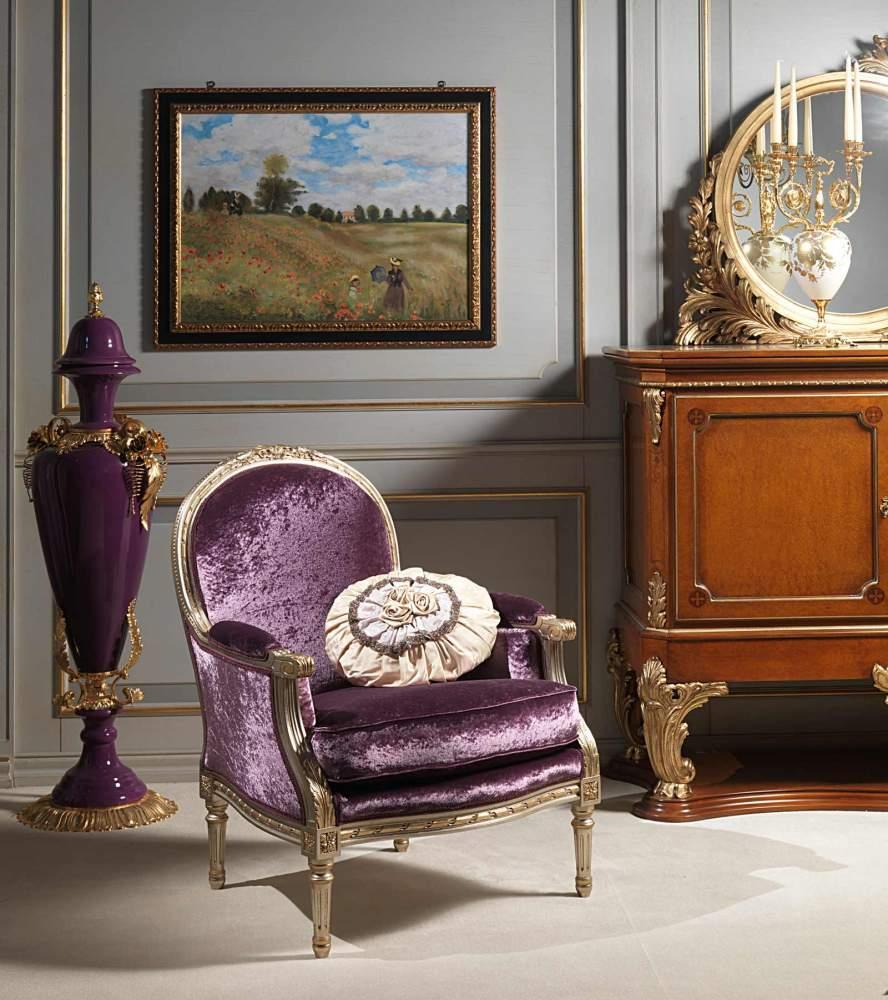 Louis XVI style living room, armchair rialto