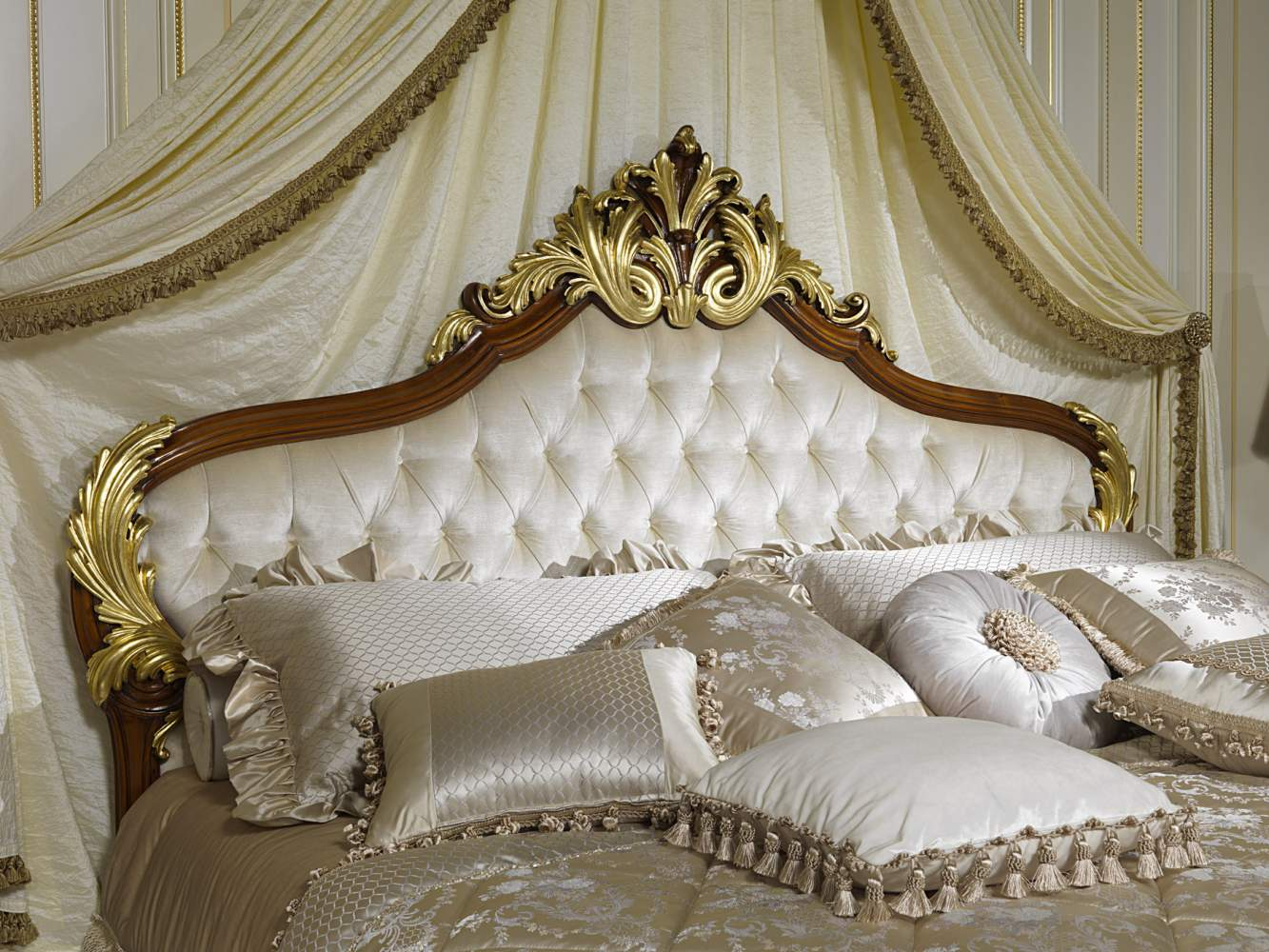 Classic elegant bed collection Louis XV France