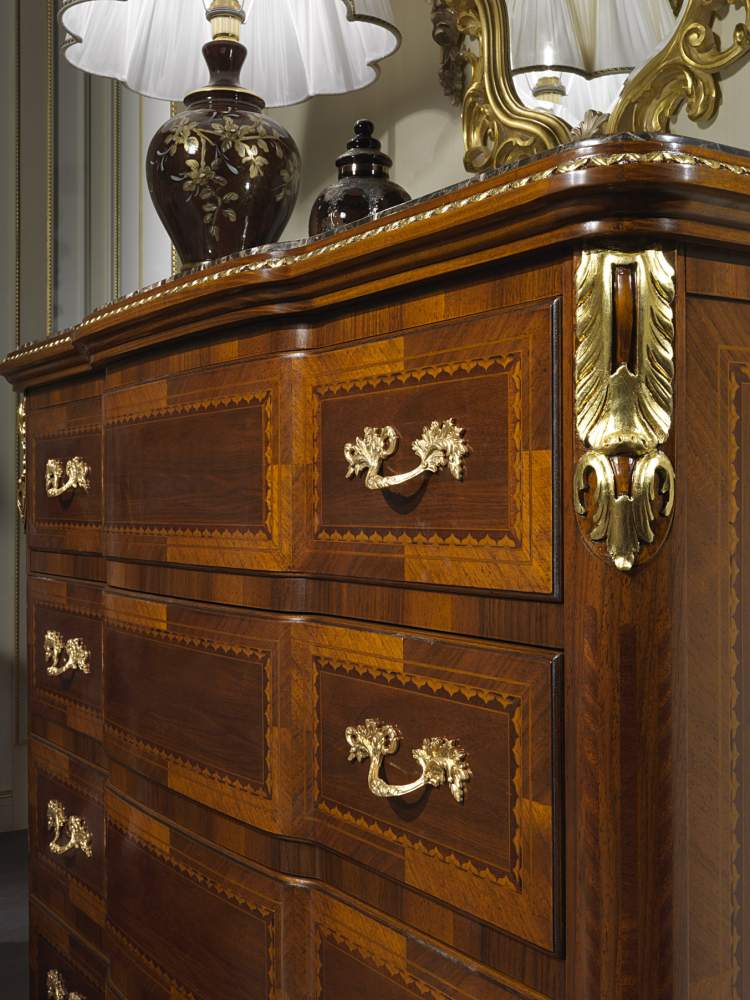 Classic luxury chest of drawers collection Louis XV France