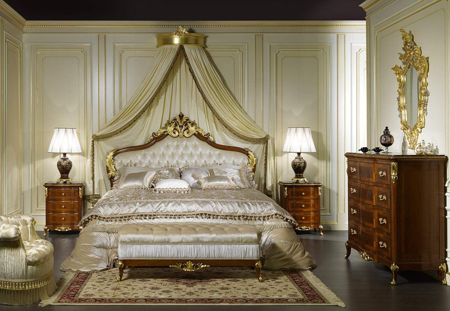Furniture classic room Louis XV France