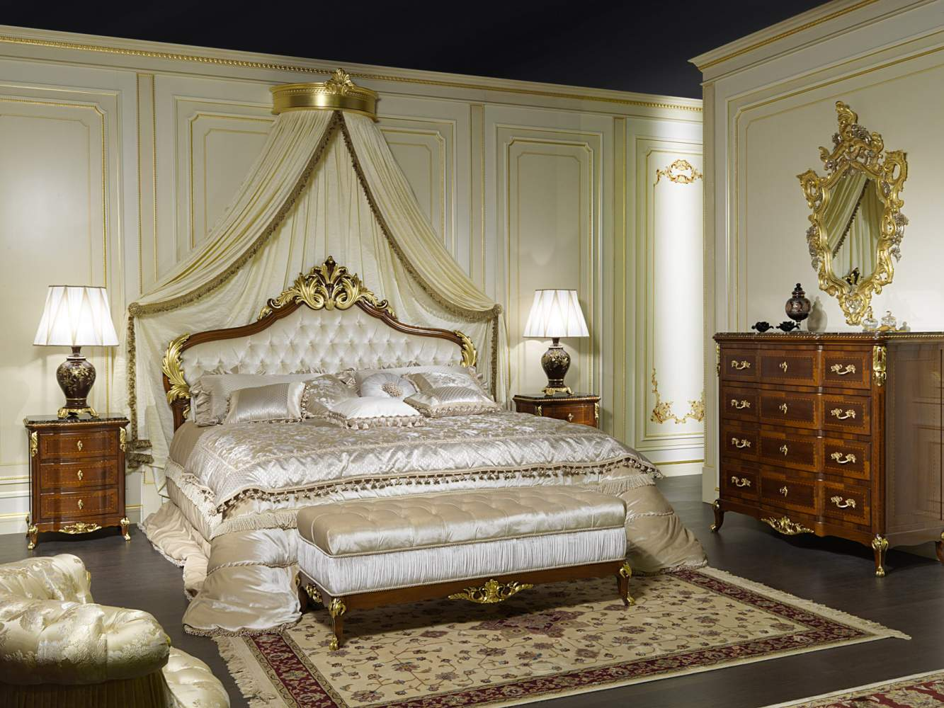Classic double bed Louis XV France