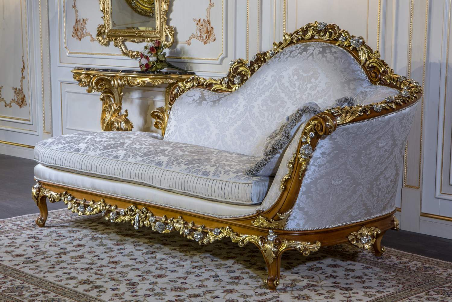 A classic couch in baroque style