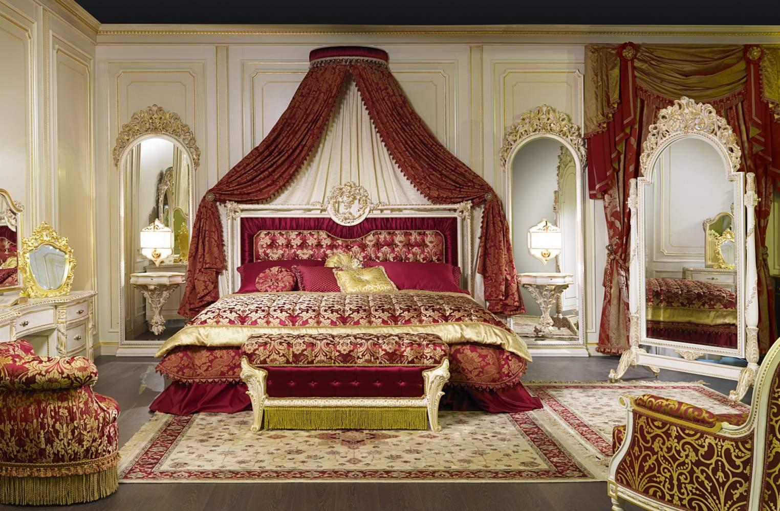 Luxury bedroom, collection Rome
