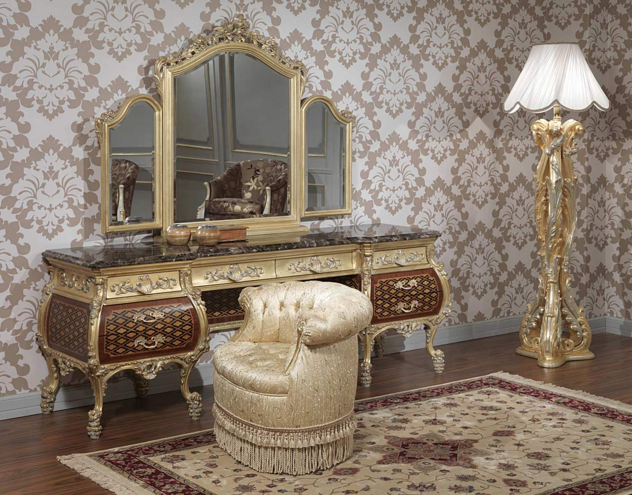 Elegant Furniture For Bedroom Emperador Gold Art 397 931