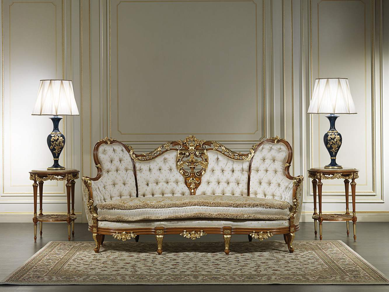 Luxury sofa nineteenth century vimercati classic furniture for Classic living room furniture