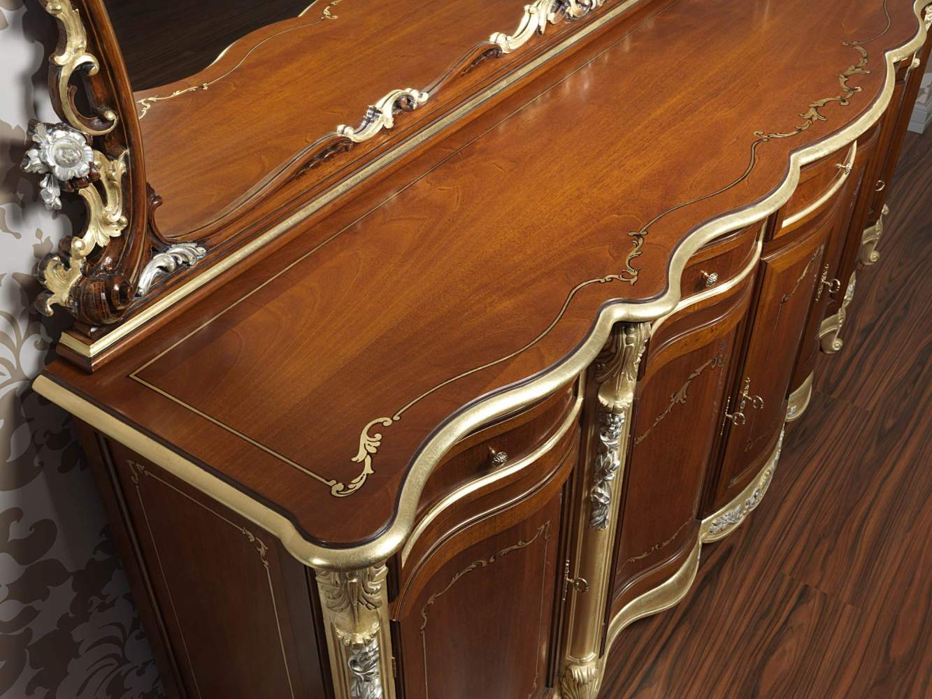 Sideboard for luxury dining room in the classic style of Louis XV