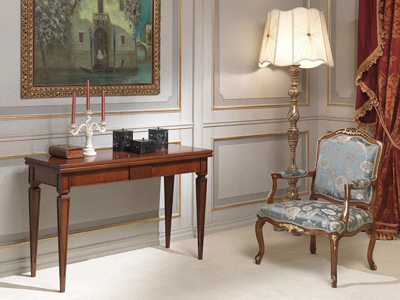 Classic extendable console to two meters and a half of length for use as table