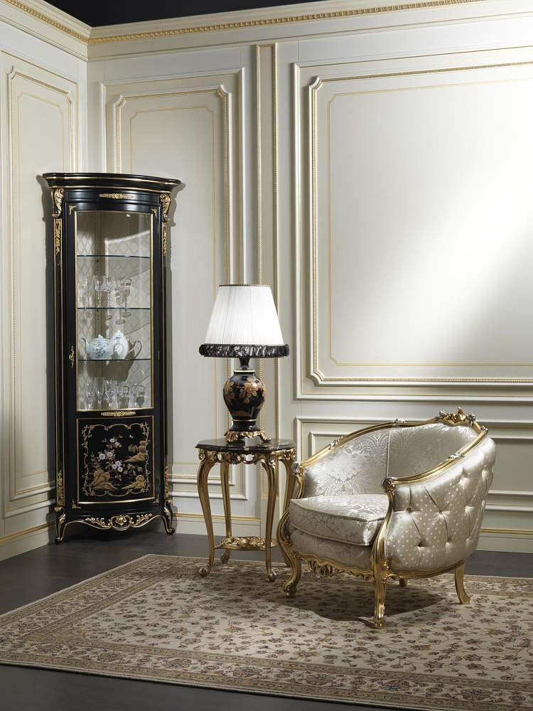 Classic cabinet showcase in chinese style Luigi XV of the Chinoiserie collection